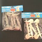 8 Beach Towel Picnic Blanket Holder Sand Spikes Stakes Clips SHARK or WHALE NEW