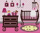 Baby Girl Nursery Needlepoint Kit or Canvas (Jewish /Judaica /Home /For Baby /Kids)