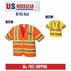 Внешний вид - Hi Vis Safety Vest Reflective Sleeved Work ANSI Class 3, Pockets, Portwest US383