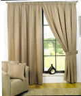 "Clayton 3"" Headed Tape Pencil Pleat Curtains Pair Ready Made Fully Lined Curtain"