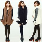 Kawaii Clothing Ropa Cute Panda Vest Waistcoat Bear Ears White Jacket Black Cool