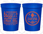Personalized Plastic Party Cups Custom Cup (487) A Wedding Without A Buzz