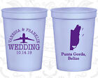 Personalized Wedding Party Cups Custom Cup (162) Belize Wedding Favors