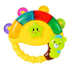 Plastic Baby Handbell Rattle Toy with Music and Light Percussion Instrument
