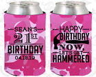 Personalized 21st Birthday Party Gifts Koozie (20087) Hap...