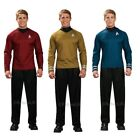 Rubies Star Trek Adults Captain Kirk Scotty Or Spock Shirt Fancy Dress Costume