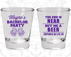 Bachelor Party Shot Glasses Glass Favor (40014) Buy Me A Beer, The End Is Near