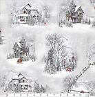 """QUILTING TREASURES """"HOME FOR THE HOLIDAYS"""" HOUSES CHRISTMAS FABRIC (SELECT)"""