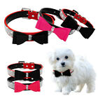Rhinestone Dog Collar Bling Diamond Buckle Dog Pet Collar Necklace Bow Studded