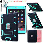 """For New iPad 9.7"""" 2017 Shockproof Heavy Duty Rubber With Hard Stand Case Cover"""