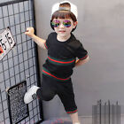 Children Summer Clothing Sets Casual Cotton Boys Tee Shirts and Trousers Outfits