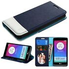 PU Leather Flip Wallet Phone Cover Case Protector For LG Leon LTE C40 H320