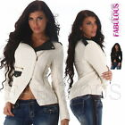 New Sexy Ladies Women's Short Jacket Stylish Hot Trendy Outerwear Size 8 10 S M