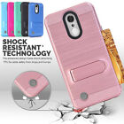 Card Pocket Holder Case Shockproof Cover Skin For LG LV5 K10 (2017) K20 Plus
