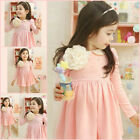 Easter Pink Christening Princess Party Flower Girls Dresses SIZE 2-3-4-5-6-7-8Y