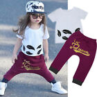 Toddler Infant Kids Baby Girl T-Shirt Tops+Pants Casual Outfits Clothes 2PCS Set