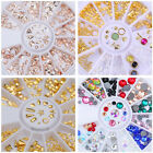 Nail Rhinestone Studs Crafts Manicure Rivet Gems 3D Nail Art Decoration Colorful