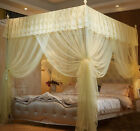 Yellow 4 Corner Post Bed Canopy Mosquito Netting Or Bed Frame Queen King Size