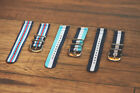 2 Piece Classic NATO Striped Nylon Replacement Watch Band - Choose your size! image
