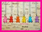 bear pelts for sale - SALE 2$ OFF Gummy Bear Candy Rainbow Color Silver Plated Necklaces USA MADE