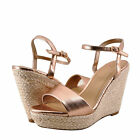 Womens Shoes Delicious Freesia Open Toe Rope Wrapped Wedge Dark Penny *New*