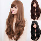 Women Long Curly Wavy Full Wig Heat Resistant Hair Cosplay Party Lolita New