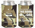 Tan Camouflage Wedding Koozies Koozie Favors Gift Ideas Decorations Gifts (309)