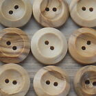 "WOODEN BUTTONS 2-HOLE NATURAL BULK BUY- 29MM (1"" 9/64) - 50 or 25 PACK***size 45"