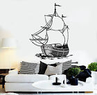 Vinyl Wall Decal Ship Sea Ocean Boat Sailor Sail Marine Style Stickers (1444ig)