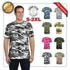code V Camouflage Short Sleeve Army Camo T-Shirt LA3906 ARMY 8 COLORS
