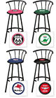"FC580 24"" OR 29"" TALL VINTAGE GAS GARAGE AUTO SHOP THEMED SEAT BLACK BAR STOOLS"