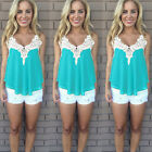 Womens Summer Sleeveless Vest Tank Tops Blouse Tee Ladies Summer Casual T-shirt