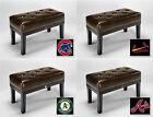 NEW MLB BASEBALL TEAM LOGO THEME CAPPUCCINO ESPRESSO PADDED SEAT CUSHION BENCH