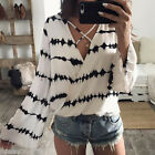 Fashion Women printing T shirt Blouse lady Casual Long Sleeve Tops Shirt HX