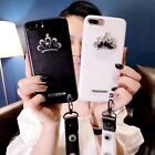 Luxury Gem Diamond Crown Wristband Phone Case Cover  For iphone 6 6S 7plus