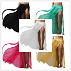 179 Soft Mesh Sheer Bikini Swimwear Cover Up Long Maxi Skirt Tube Top Beachwear