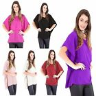 Ladies New Kimono Chiffon Short Sleeve Loose Casual Blouse Dress Plus Size Tops