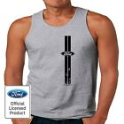 Licensed Ford Stripes Vertical Logo Tee Muscle Car Men's Tank Top