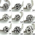 10pcs Retro Tibetan Silver Spacer Round Beads Fit 925 European Charm Bracelet