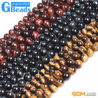 Natural Genuine AAA Grade Tiger's Eye Precious Stone Round Beads Free Shipping