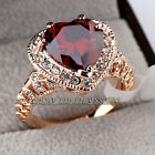 A1-R3053 Fashion Love Heart Engagement Wedding Ring 18KGP CZ Rhinestone Crystal