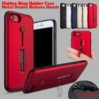 Slim Shockproof Hidden Ring + Metal Kickstand Case Cover F Apple iPhone 8 7 Plus