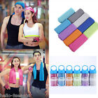 Unisex Summer Hypothermia Bilayer Gym Towel Exercise  Towel Cool Washclot