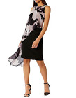 NEW COAST AROSSA PRINT DRESS SHIFT FLORAL BLACK NUDE BLUSH OCCASION SIZE 6 - 18