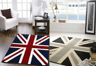 DISCOUNT LARGE UNION JACK RUG TRADITIONAL RED WHITE BLUE OR BLACK GREY MONO