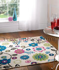 SMALL - EXTRA LARGE CREAM LIGHT BEIGE VOGUE FLORAL FUNKY FLOWER SOFT CHEAP RUG