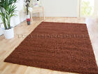 SMALL - EXTRA LARGE MID BROWN THICK PILE PLAIN MODERN NON-SHED SOFT SHAGGY RUG