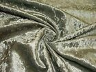 """""""Diamond"""" Silver Grey Crushed Velvet Fabric Curtain Upholstery Cushions Blinds"""