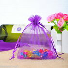 Wholesale Lots  9x12cm Dark purple Drawable Organza Wedding Gift Bags&Pouches