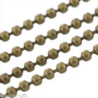 Wholesale Lots Gift Bronze Tone Ball Chains Findings 1.5mm